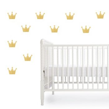Crown Wall Decals Gold